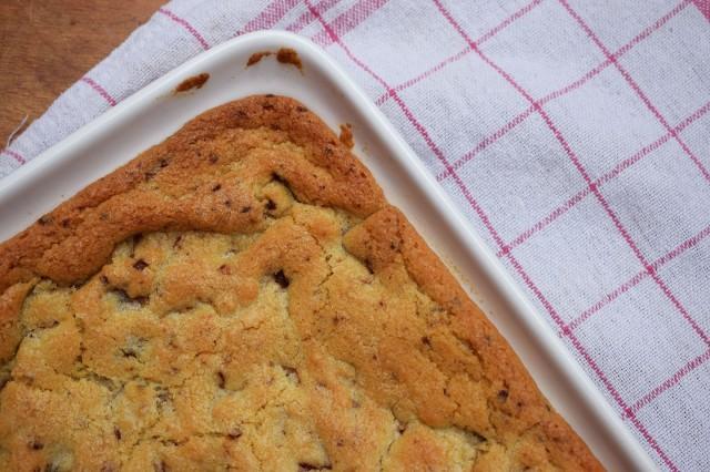 cookie géant avec un torchon