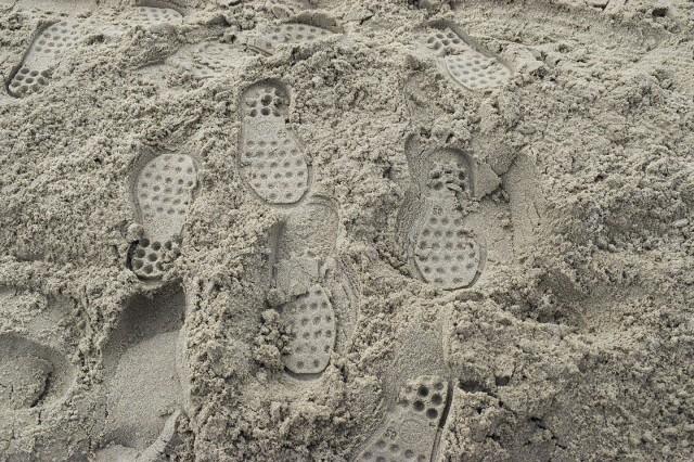 les emprumtes dans le sable du touquet