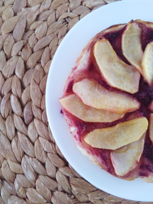 tarte pommes compote fraise