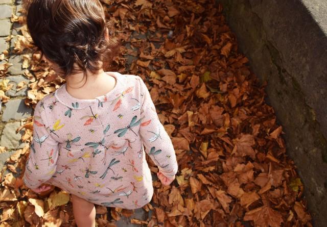 lina avec les feuilles d'automnes à brugges