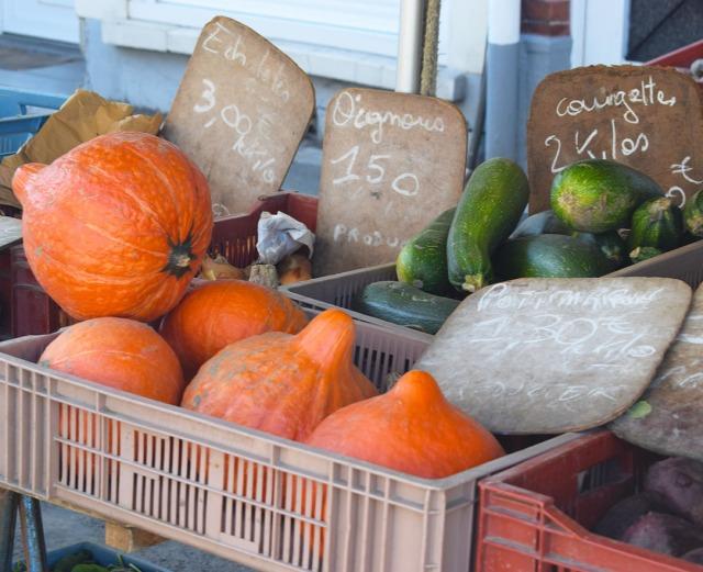 légumes d'automne au marché